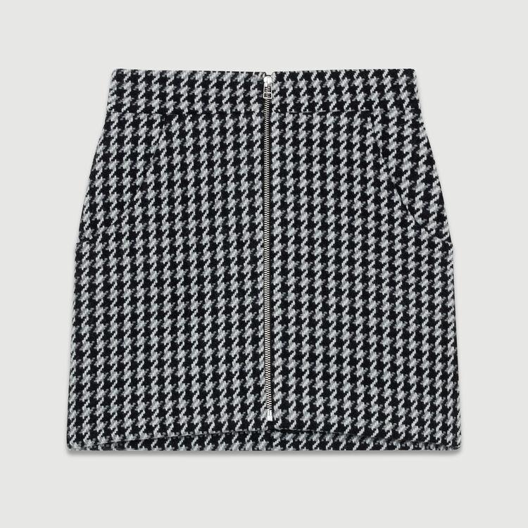 Short houndstooth skirt : Skirts & Shorts color Jacquard