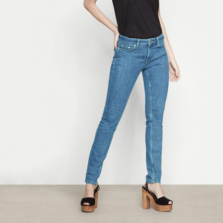 High-waist slim-fit jeans - See all - MAJE