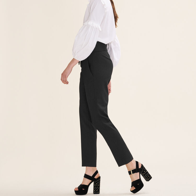 Carrot trousers with bow : Fall Winter Collection color Black 210