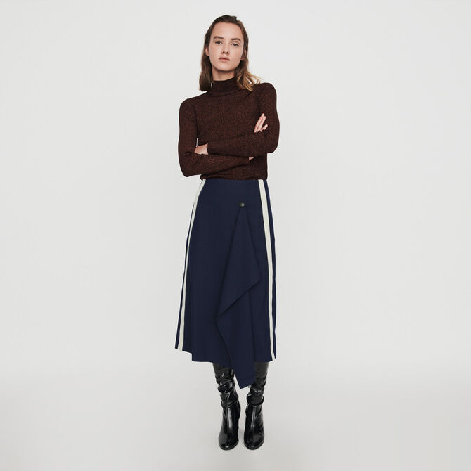 Skirt with racing stripes - staff private sale 20 - MAJE