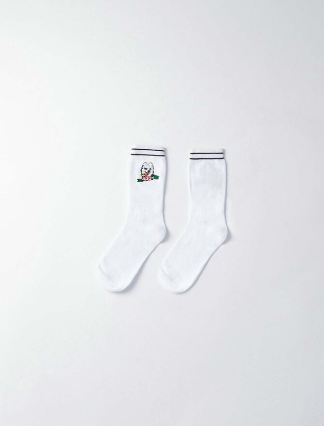 Gyps' cotton socks - null - MAJE