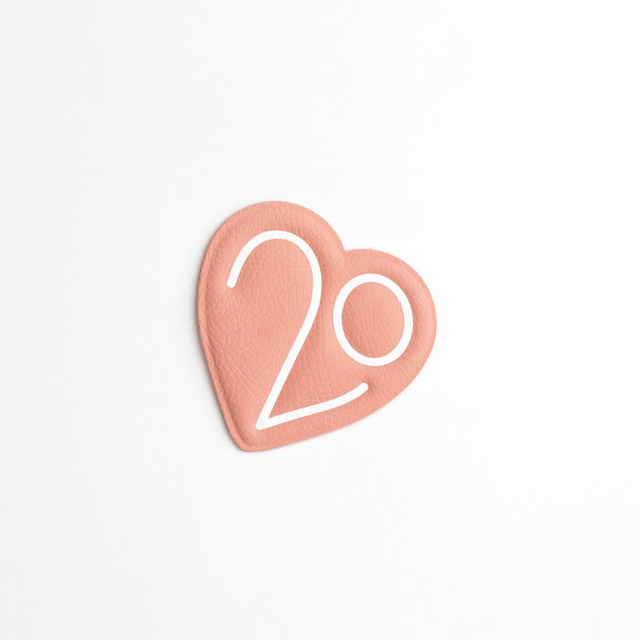 Patch Badge X 20 years : Urban color Pink