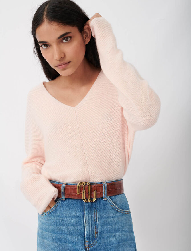 V-neck cashmere sweater - New collection - MAJE