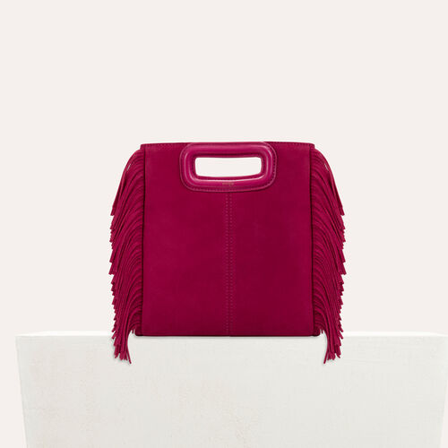 Suede M bag : M bag color Raspberry