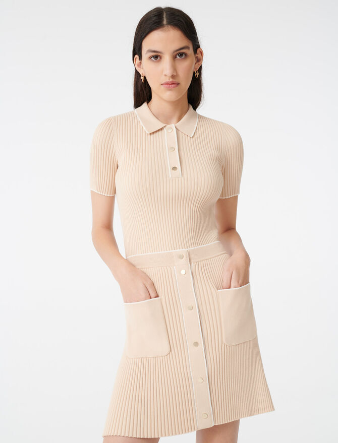 Close-fitting knit skirt - Skirts & Shorts - MAJE