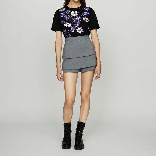 Illusion skirt : Skirts & Shorts color Grey