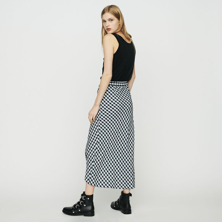 Skirt with vichy print : Skirts & Shorts color CARREAUX