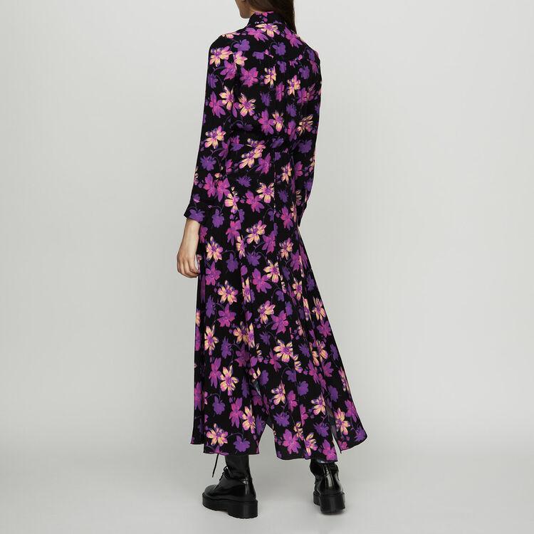 Long asymmetric dress in floral print : Dresses color Print