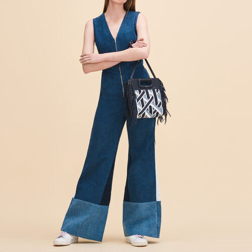 Sleeveless jumpsuit : Trousers & Jeans color Denim