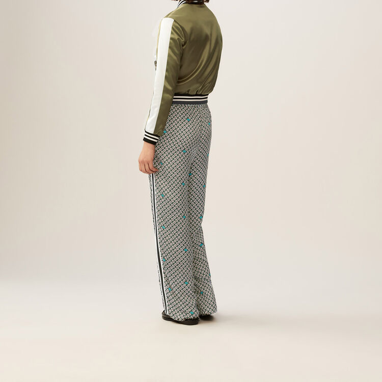 Flowing floral pants : Trousers color PRINTED