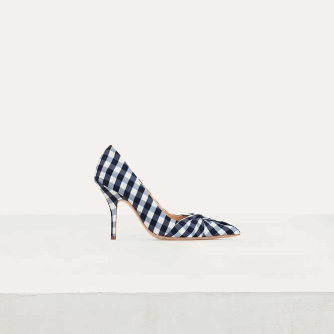 Heels draped in vichy blue - See all - MAJE