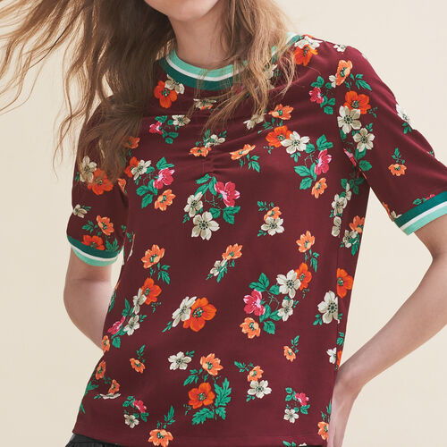 Flowing top with a retro print : Tops color Print