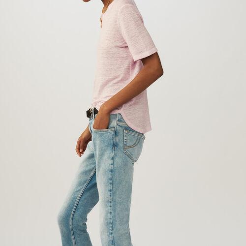 Linen t-shirt : T-Shirts color LILAS