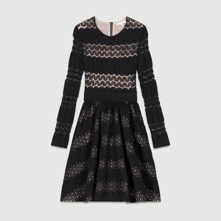 Basket knitted dress : Dresses color BLACK