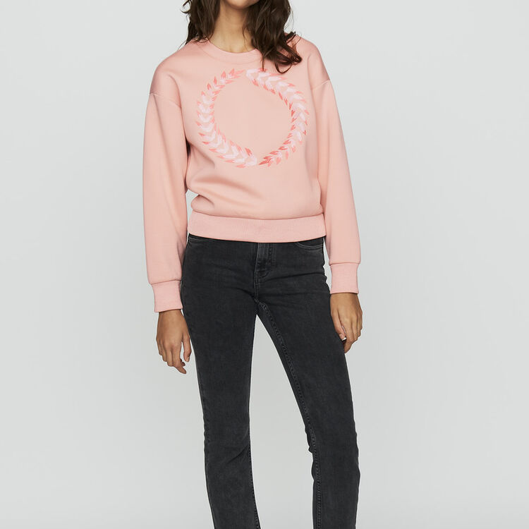 Fleece sweatshirt : Urban color PECHE