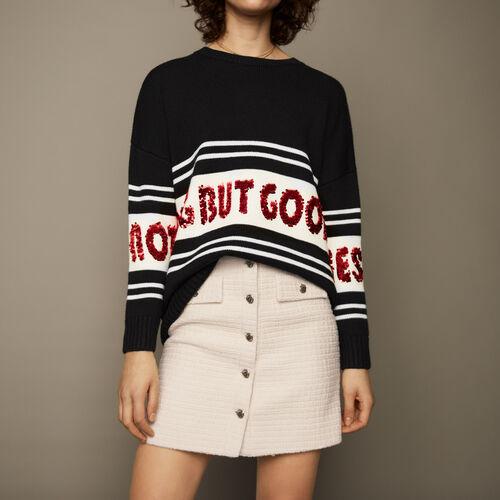 Jumper oversized : Knitwear color Black 210