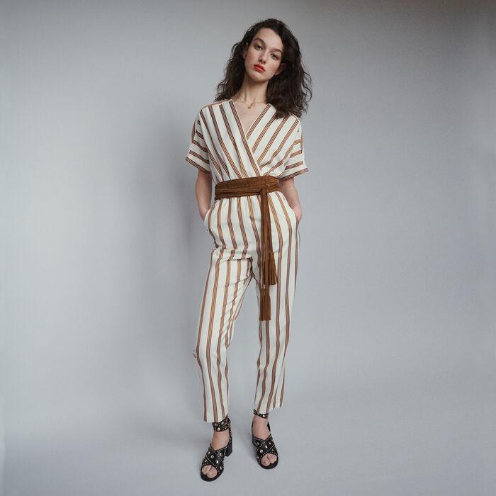 d9762d667df PIENI Striped jumpsuit - Trousers   Jeans - Maje.com