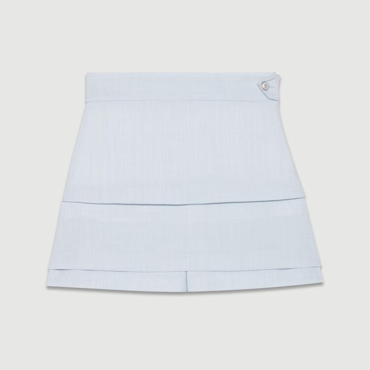 Trompe-l'oeil shorts : Ready to wear color Blue Sky