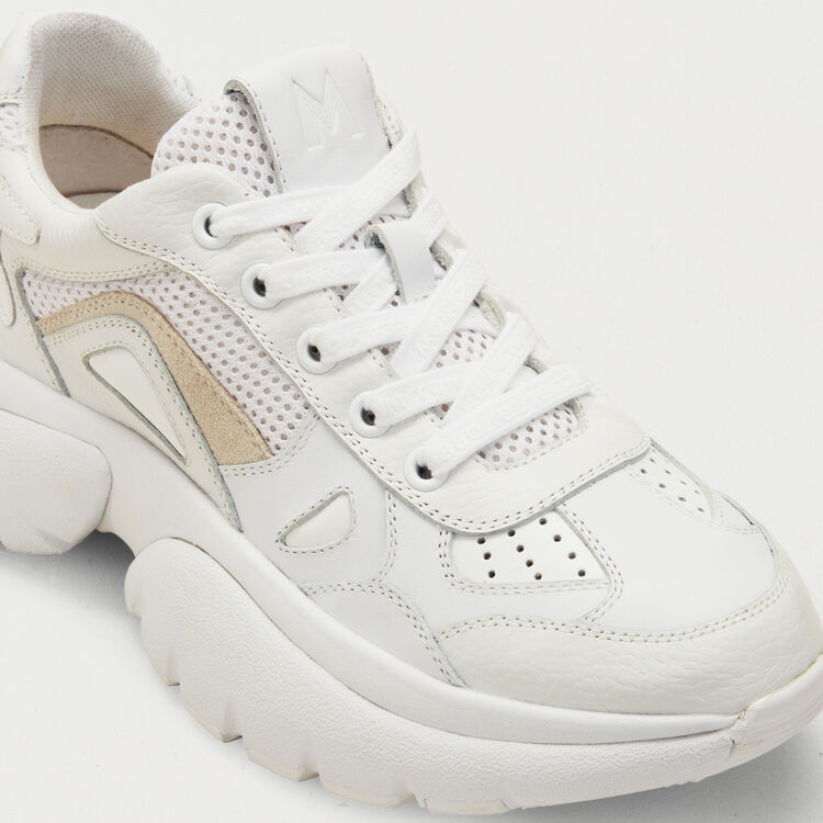 W20 Urban leather sneakers : Rompers & Jumpsuits color White