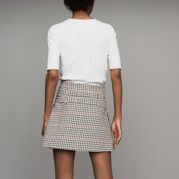 Plaid skort : New Collection color CARREAUX