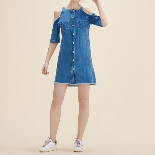 Denim dress : Dresses color Blue