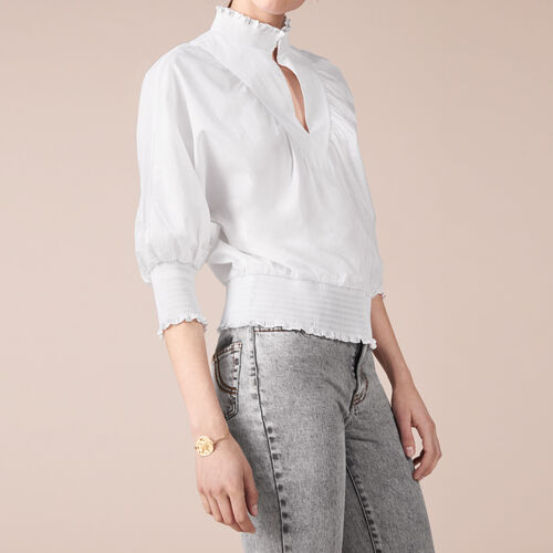 Cotton blouse - Tops - MAJE