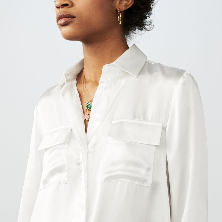 Silk blouse : Tops & Shirts color Terracota