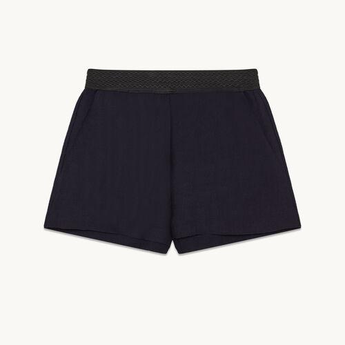 Short shorts in ottoman fabric - null - MAJE