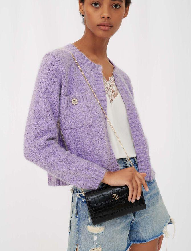 Lurex cardigan with jewel buttons - Knitwear - MAJE