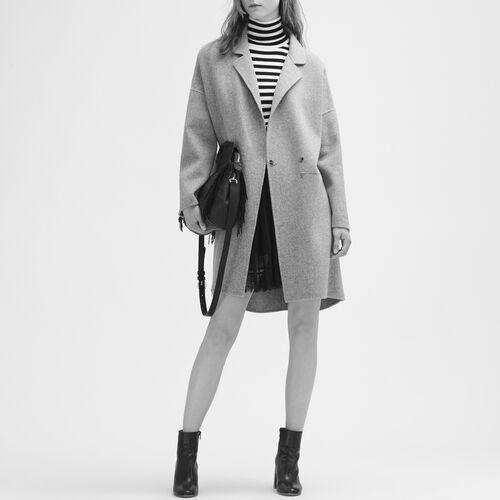 Double-sided wool coat - Coats - MAJE