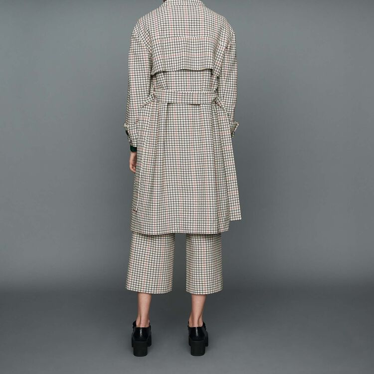 Straight plaid coat : Ready to wear color CARREAUX
