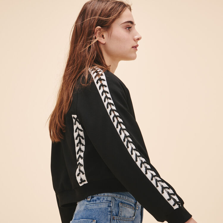 Bomber jacket with lacing - See all - MAJE