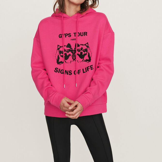 Embroidered hooded sweatshirt - See all - MAJE
