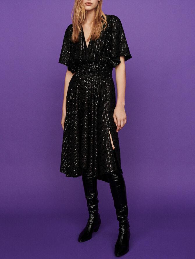 Sequin smock dress - Dresses - MAJE