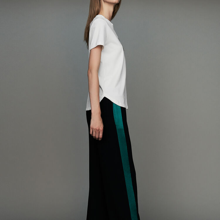 Wide bicolor pants : Urban color Black 210