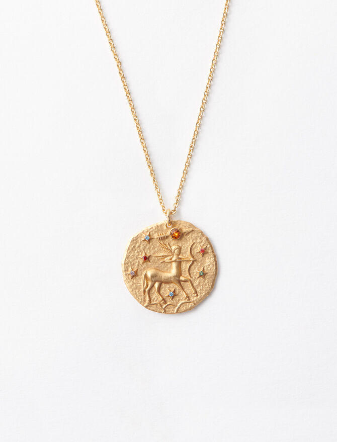 Sagittarius zodiac sign necklace -  - MAJE