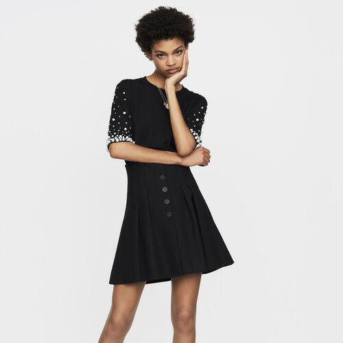 Short pleated skirt : Skirts & Shorts color Black 210