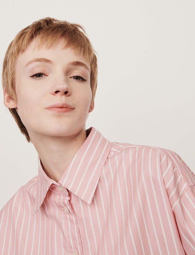 Oversized striped shirt - Tops & Shirts - MAJE