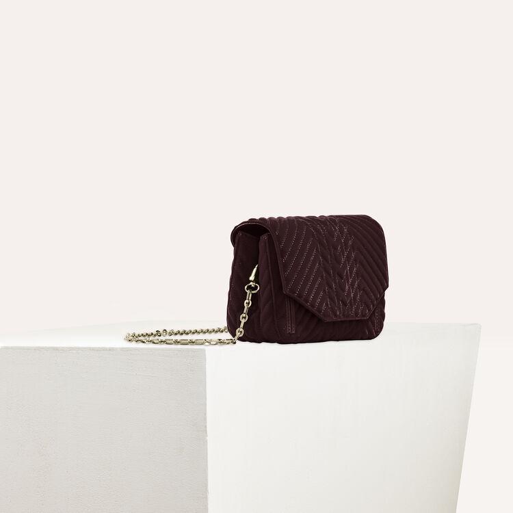 Quilted velvet evening bag : Discount color BORDEAUX