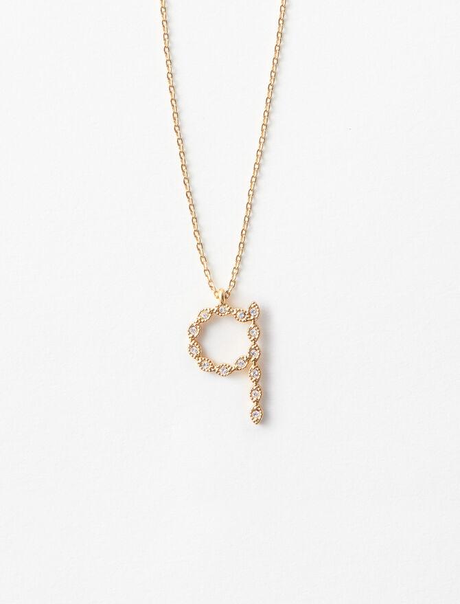 Rhinestone Q necklace -  - MAJE