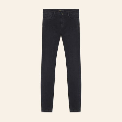 Skinny stretch cotton jeans : Jeans color Anthracite