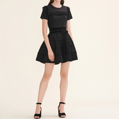 Mesh puffball skirt : Skirts & Shorts color Black 210
