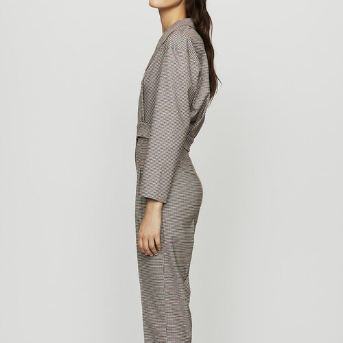 Belted plaid jumsuit : Jumpsuits color CARREAUX