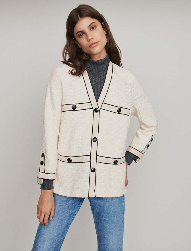 Tweed-style contrast jacket - Blazers - MAJE