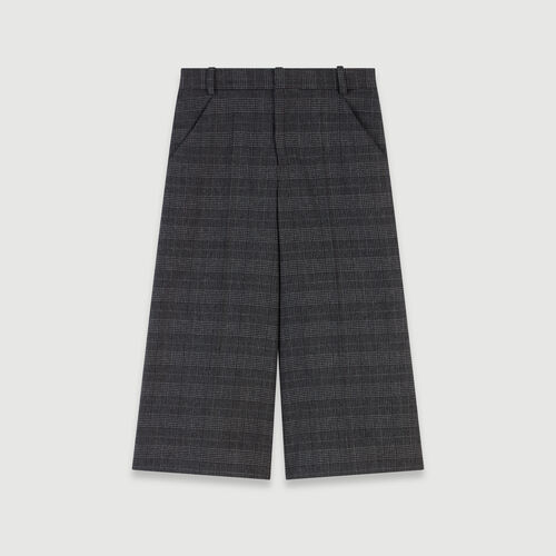 Plaid bermuda-style shorts : Skirts & Shorts color Grey