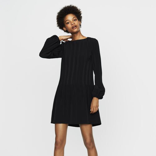 Pleated crêpe smock dress - Dresses - MAJE