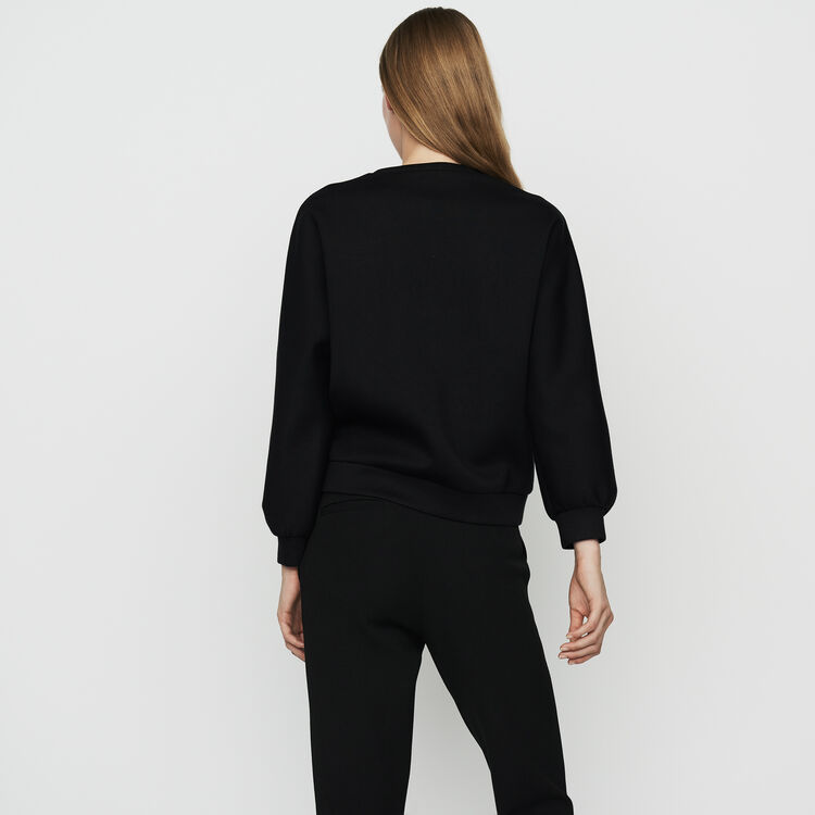 Lace sweatshirt : Sweatshirts color Black 210