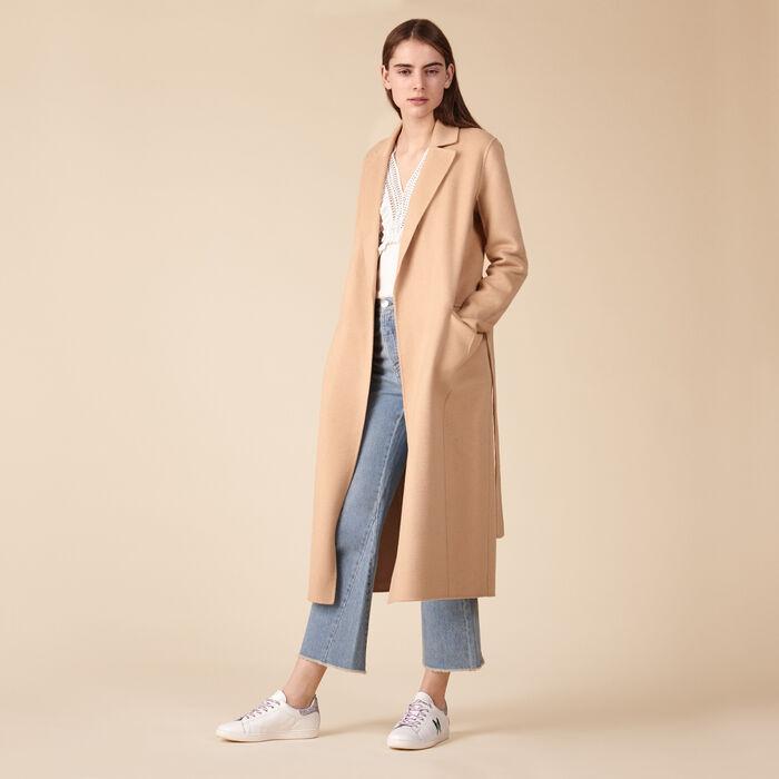 Wool-blend coat - Coats - MAJE