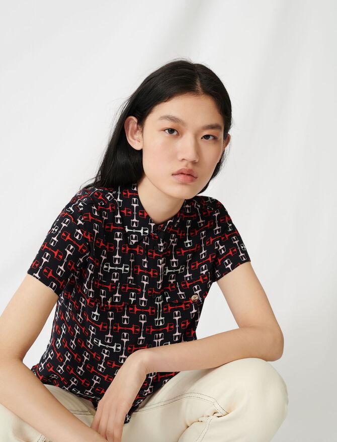 Printed short-sleeved shirt -  - MAJE