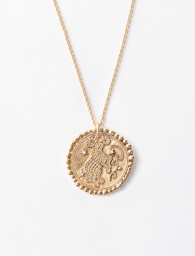 Aries zodiac sign necklace -  - MAJE